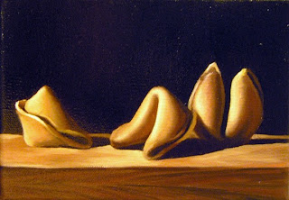 Daily Oil Painting, Still Life, Fortune Cookies