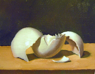 Daily Oil Painting, Still Life, Egg