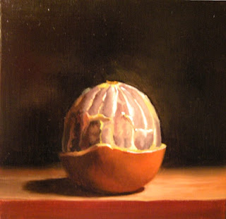 Daily Oil Painting, Still Life, Orange