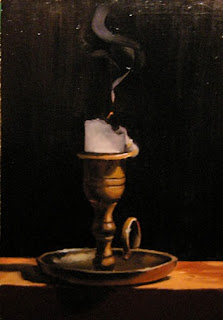 Daily Painting, Oil, Still Life, Extinguished