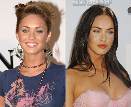 megan fox before and now