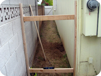 DIY backyard gate tutorial