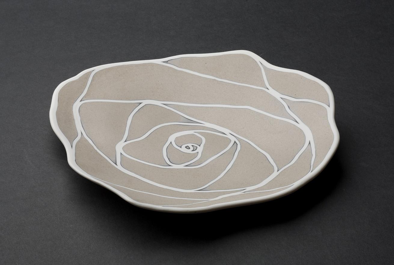 miguel santamaria camelias de porcelana platos