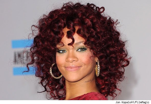 rihanna hair color. rihanna hair colour red.