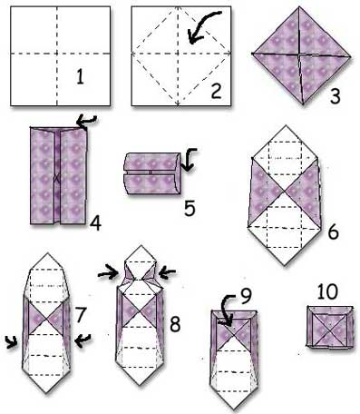 Vik en ask av papper instruktioner