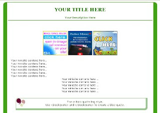 green blogger minisite template