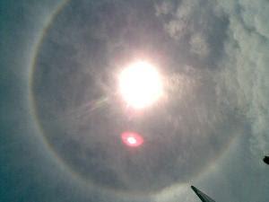 cincin pelangi matahari