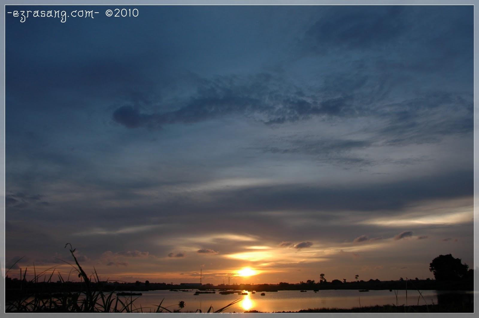 Interestingly, sunset!