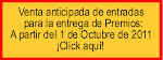 Venta anticipada de entradas para la entrega de Premios del 29 de Octubre de 2011