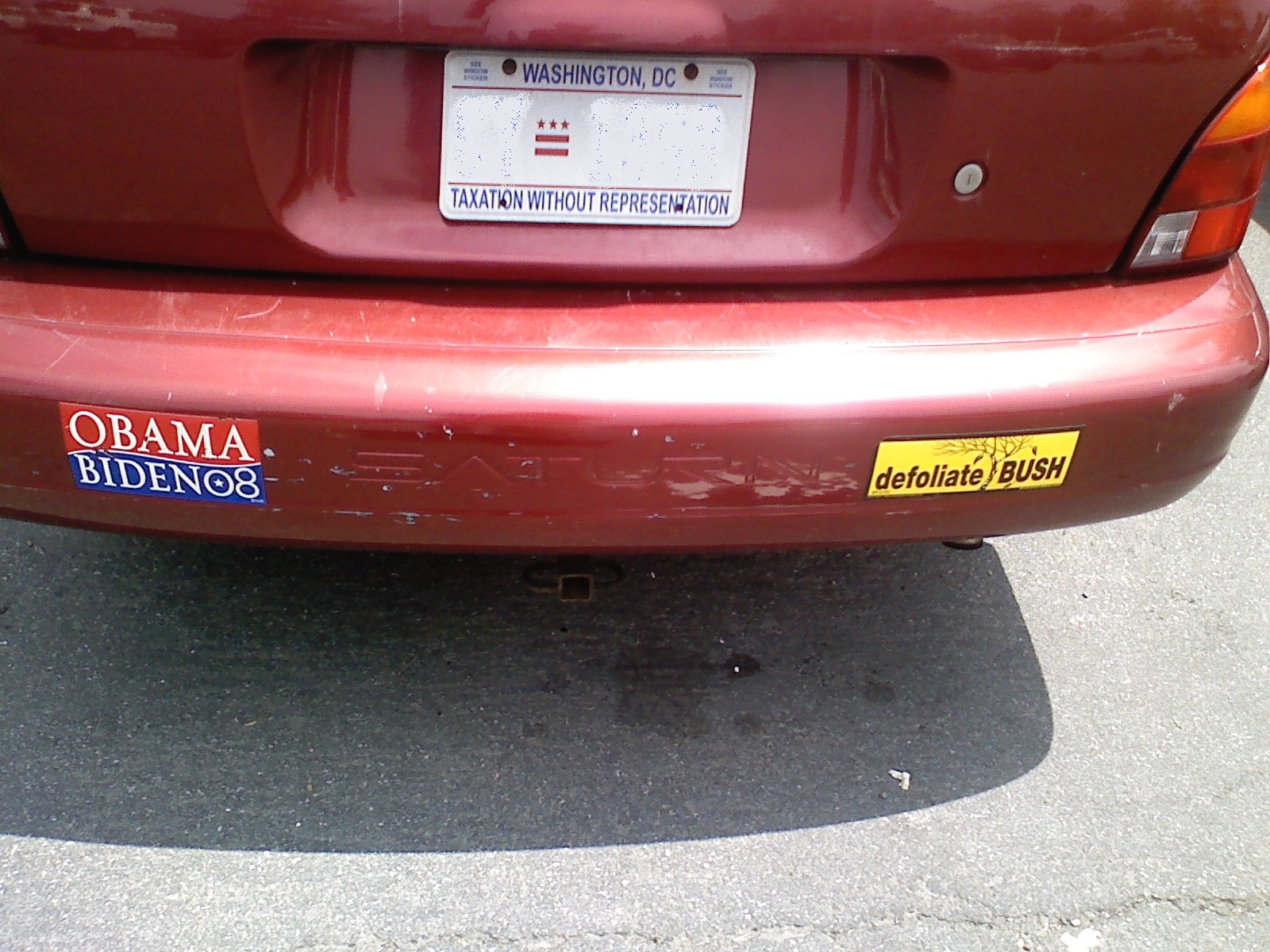 Hateful liberal bumper sticker of the day
