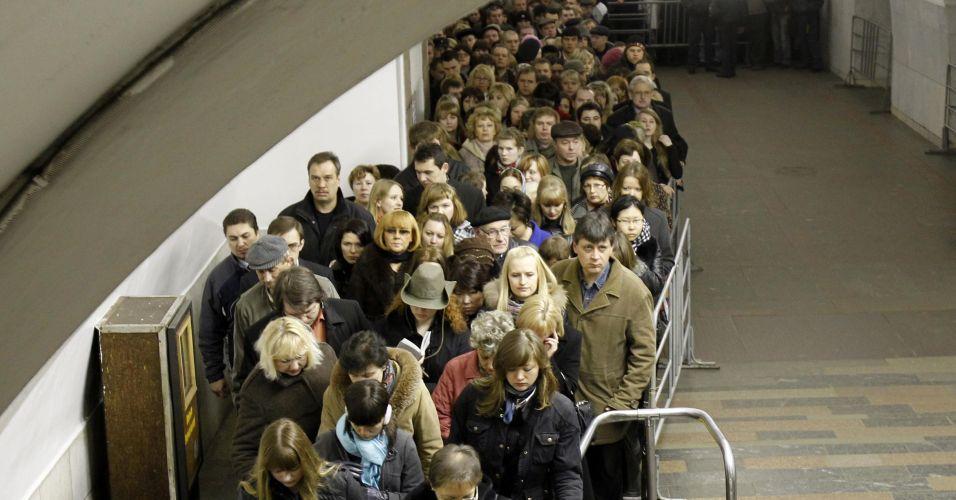 Estações de metrô de park kultury e lubyanka - moscou, rússia