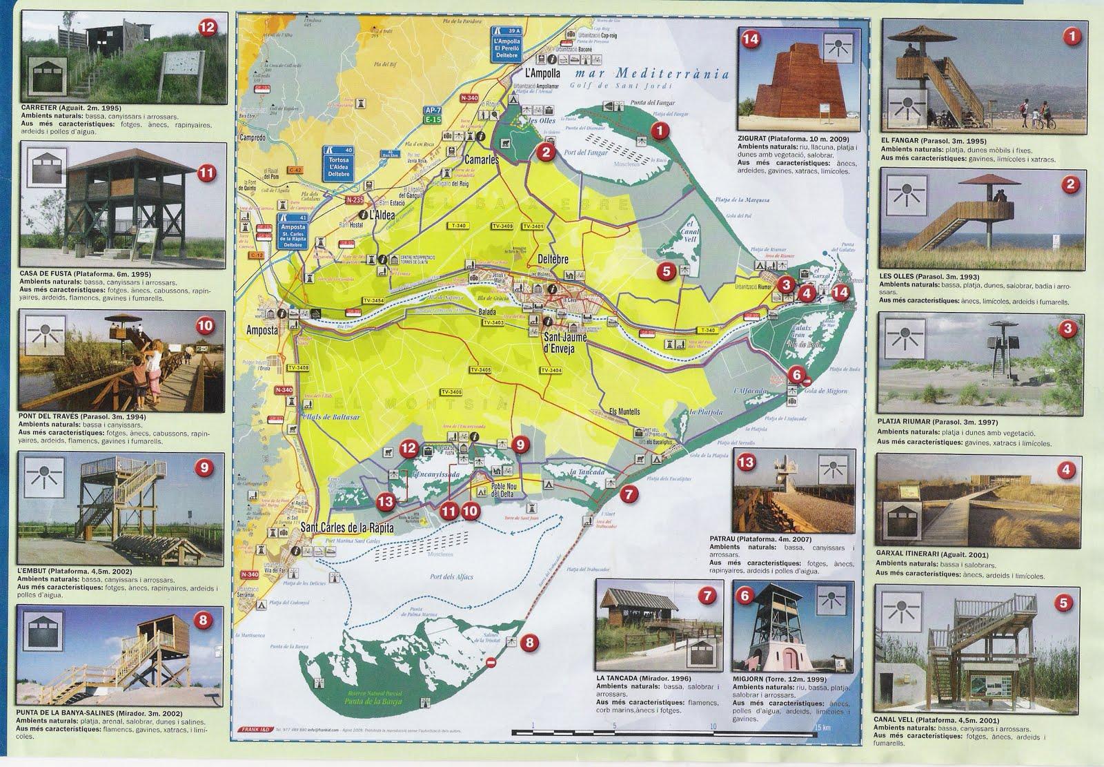 Delta Del Ebro Mapa Mapa de Situació Del Delta