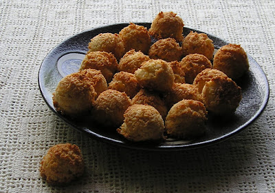 Coconut Macaroons with Preserved Ginger