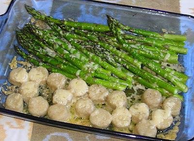 Roasted Barley Gnocchi with Asparagus