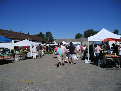 Outside at the Stratford Farmers Market