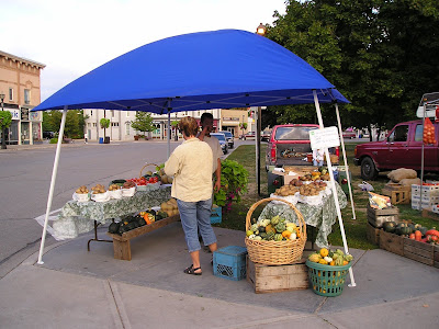 A Stand at the Goderich Farmers Market