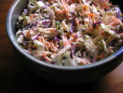 Broccoli Stem Cole Slaw