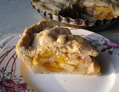 Pear Pie with Dried Apricots and Ginger