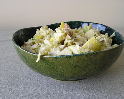 Cabbage Apple and Walnut Salad