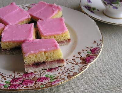 Aunt Helen's Raspberry Rice Squares