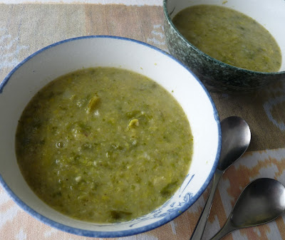 Leek and Brussels Sprout Soup