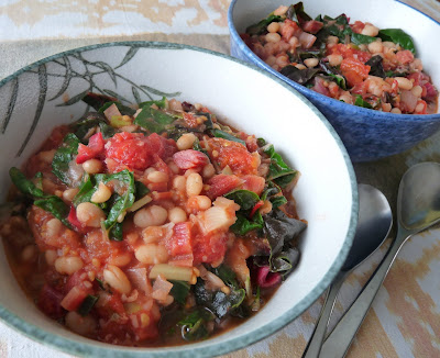 Beans and Chard with Tomatoes
