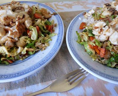 Fried Tofu with Stir-Fried Cabbage