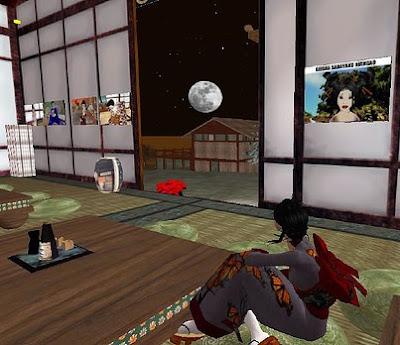 Watching the moon, Karyukai Okiya, SL