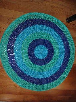 Alfombra turquesa,azul y verde