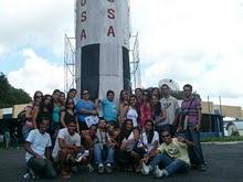 Foto da turma no Museu Antares de Ciência e Tecnologia