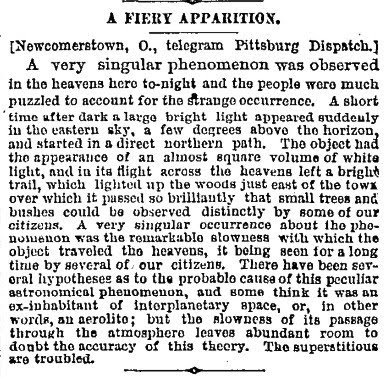 A Fiery Apparition - Brooklyn Eagle 6-1-1884