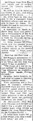 Huge Mystery Object is Probed By Air Force - Washington Evening Star - 11-5-1957 (B)