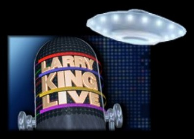 Larry King Logo & Flying Saucer