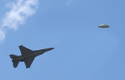 F-16 Chasing Flying Saucer