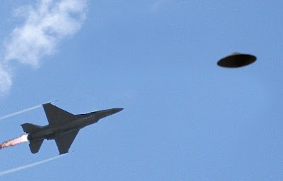 F-16 Chasing Flying Saucer (B)