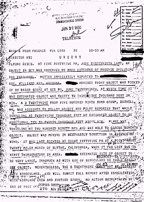 B-29 From Roswell Pursues UFO - FBI Doc 6-30-1950