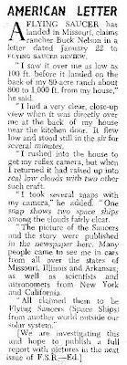 Buck Nelson Letter To FSR Spring 1955