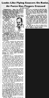 Looks Like Flying Saucers  St Petersburg Times  7-29-1952