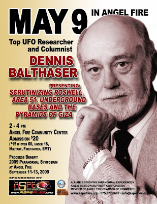 Dennis Balthaser at Ther Angel Fire Community Center May 9th