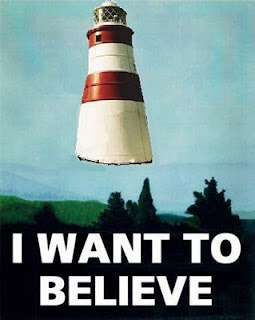 I Want To Belive & LightHouse Posterl