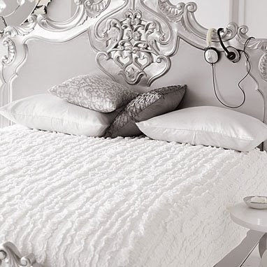 White Bedroom on An Elegant Silver And White Bedroom Set By Brocade ...