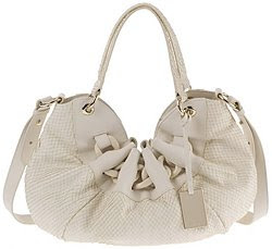 White python stamped Furla Ninfea chain purse