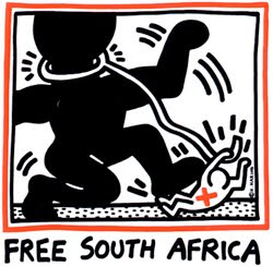 Keith Haring Free South Africa poster