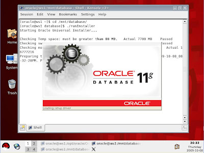 how to create database service in oracle 11g