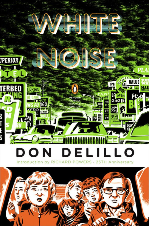 White Noise Book Cover : Brutally crushed white noise don delillo
