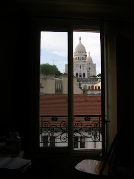 Kate's bedroom view of Sacre Coeur