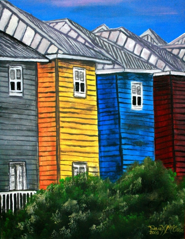 watercolor paintings art by derek mccrea beach houses