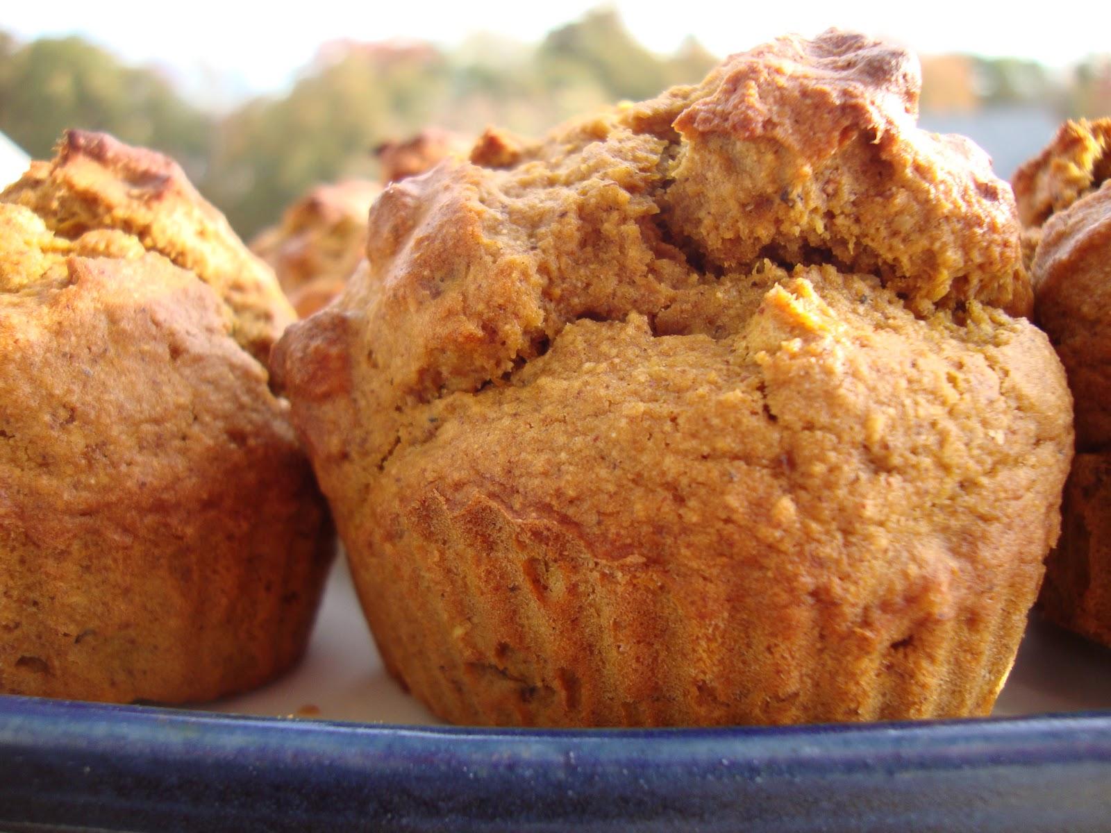 Lady Kay's Kitchen: Pumpkin Pecan Muffins