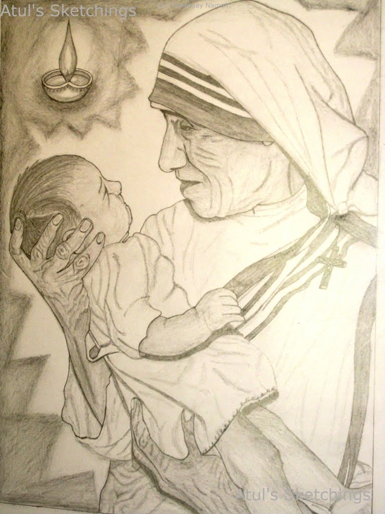 Mother teresa symbol of peace and love