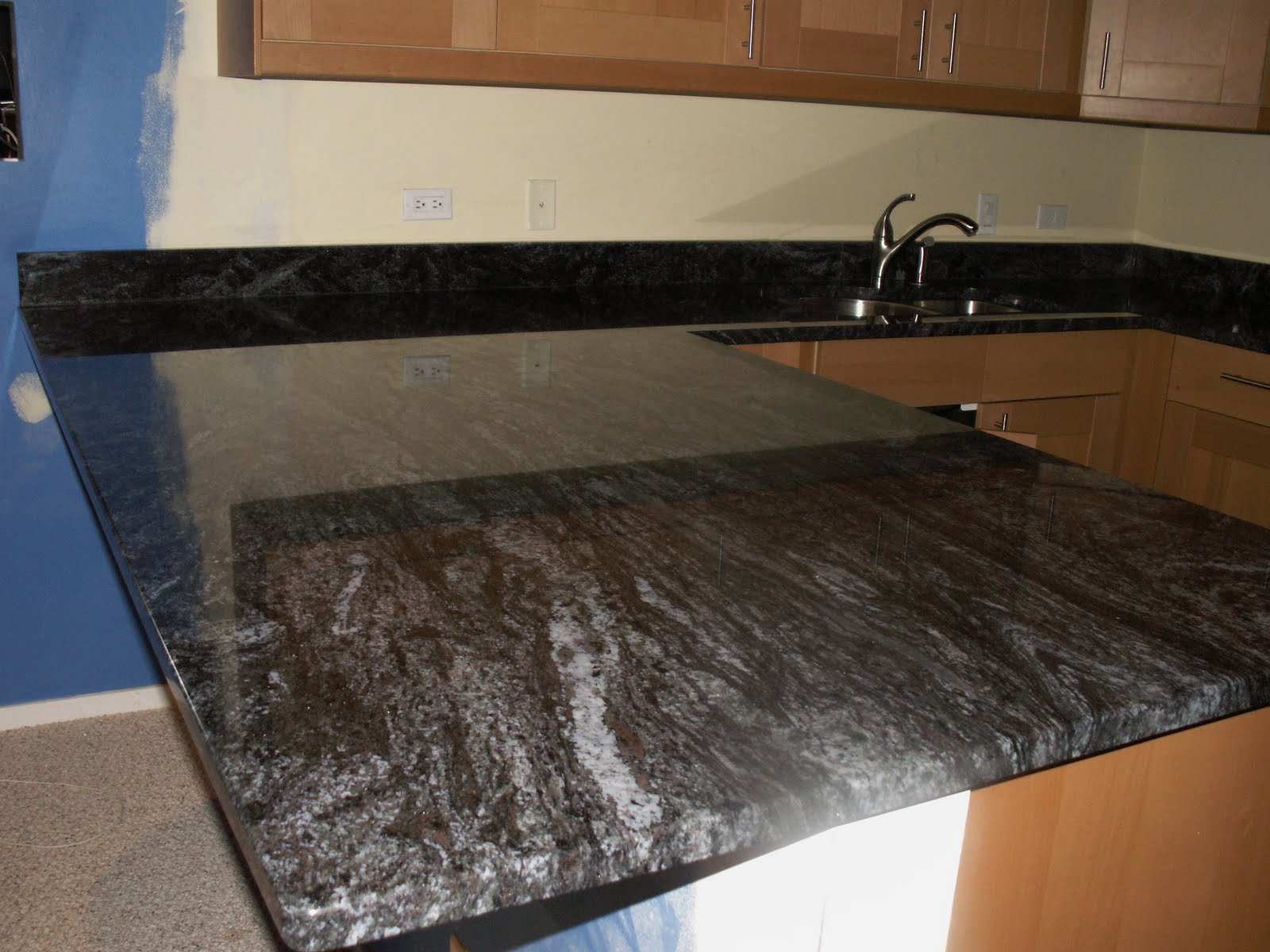 Jc Granite Dynamic Blue Granite With Eased Edge Profile